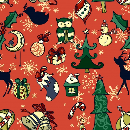 x mas: Vector christmas seamless pattern