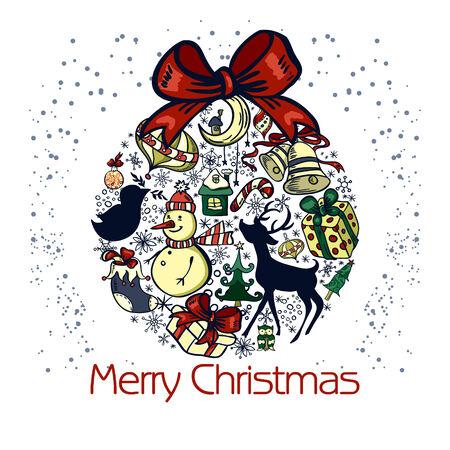 Christmas background with a Christmas ball Vector