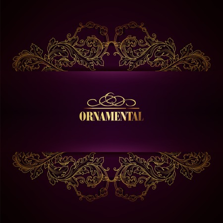 gothic design: Beautiful elegant background with lace floral ornament and place for text. Designl elements, ornate background. Vector illustration. EPS 10. Illustration