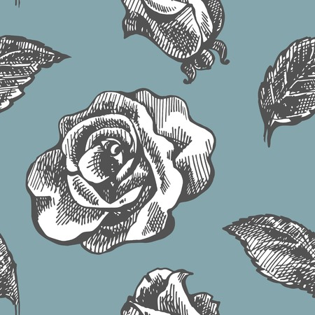 luxuriate: Seamless vintage pattern with roses. Seamless pattern