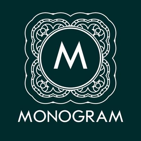 Eenvoudig en elegant monogram ontwerp sjabloon met letters. Vector illustratie. Stock Illustratie