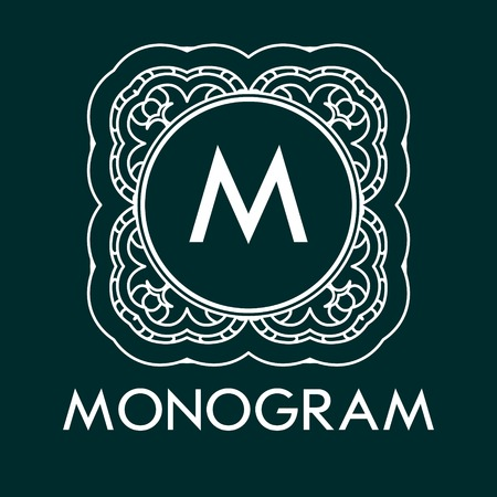 Simple and elegant monogram design template with letters. Vector illustration.