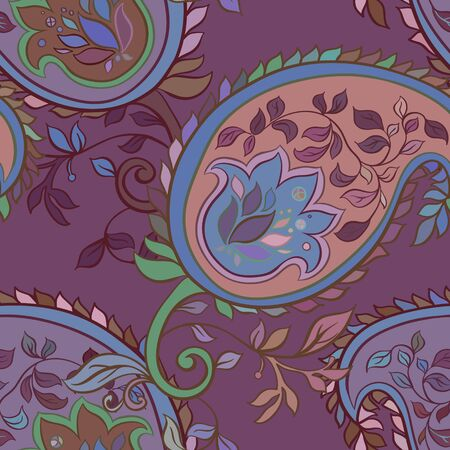 flor: Decorative creative floral boho seamless pattern