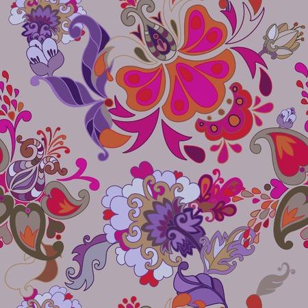 Decorative creative floral boho seamless pattern