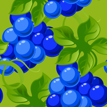sappy: seamless background with bright fresh jucy grapes.