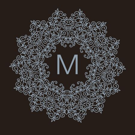 Luxury vintage vector set of floral line design elements, frames and borders in modern style Vector