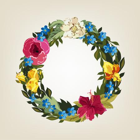 flower alphabet: O letter in Flower capital alphabet Illustration