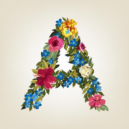 Una carta en alfabeto capitales Flor