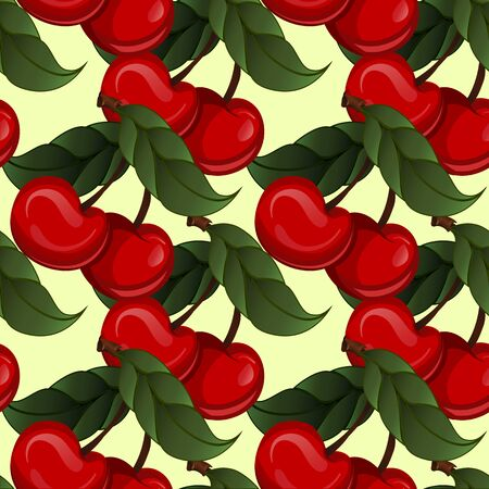 two point: Seamless texture - bright juicy fresh cherry fruit