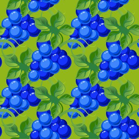 sappy: seamless background with bright fresh juicy grapes.