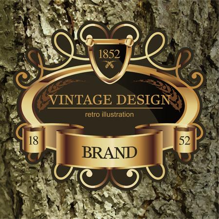 lable: Vintage Lable frame for Business Identity Illustration