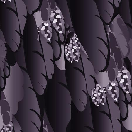 Bird Feather seamless pattern. Vector background. Texture. Vector