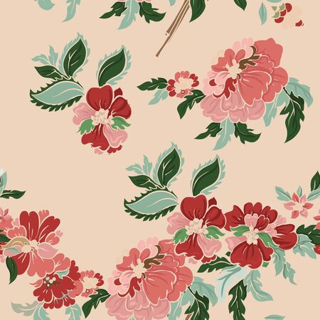 Beautiful  classic floral seamless pattern. Vector background.