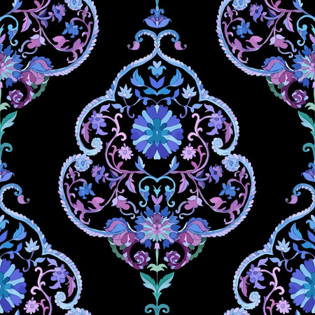 paisley: Watercolor paisley seamless background.