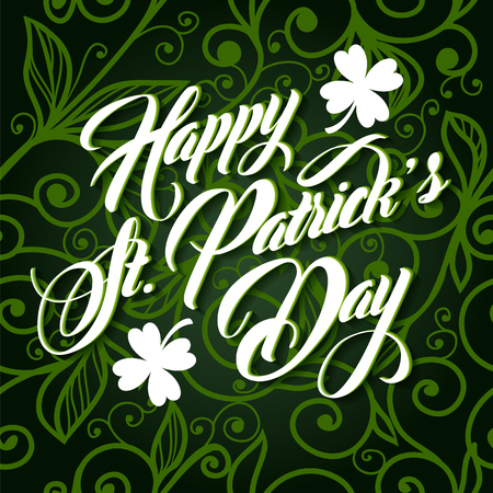 patrick day: Patrick day lettering greeting card or background
