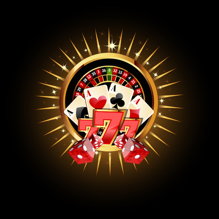 night suit: Casino  Composition with Roulette Wheel, Playing Cards ans Dice