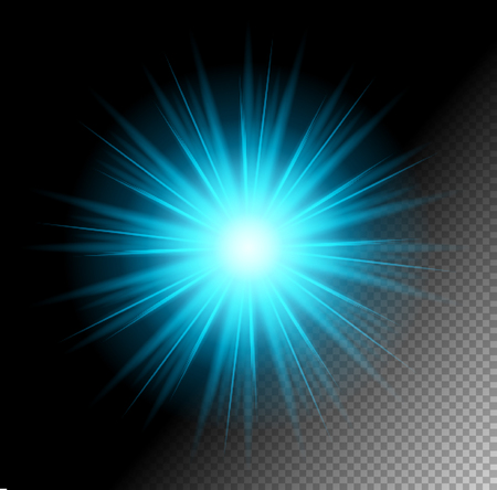 sun rays: Transparent Vector Shine Effect. Suitable for any Background