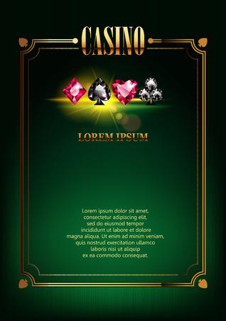 カジノのポスターの背景。  イラスト・ベクター素材
