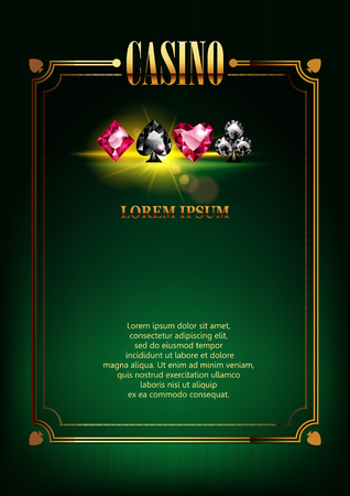Casino Poster Background. Vectores