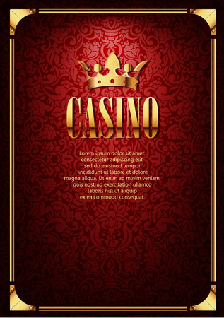 Luxury Casino Gambling Background with Golden Crown