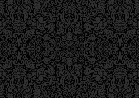 Vintage background, antique ornament, baroque old paper, backdrop for greeting card or ornate cover page. Floral luxury ornamental pattern template for design