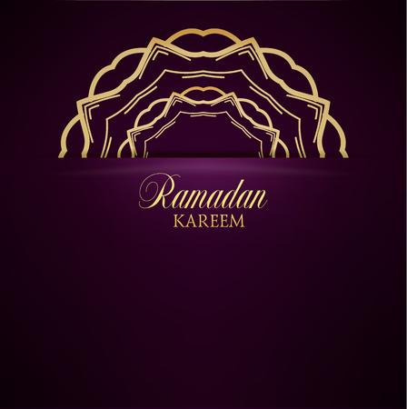 arabian: Ramadan Kareem greeting ornate background. Vector Illustration. Eid mubarak. Islamic art design template.