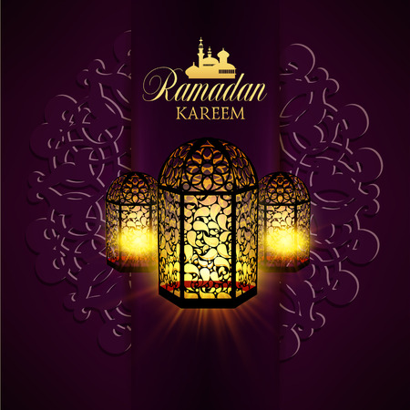 ornamentation: Ramadan Kareem greeting ornate background. Vector Illustration. Eid mubarak. Islamic art design template.