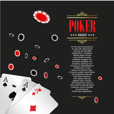 Casino Poster Or Banner Background Or Flyer Template Poker