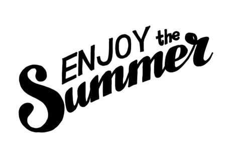 Hand drawn lettering elements for Summer calligraphic designs. All for Summer holidays. Enjoy the Summer. Vector illustration.