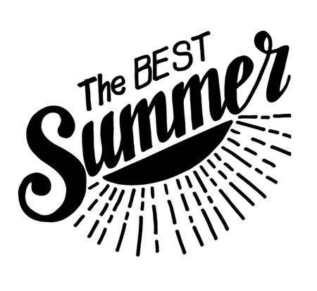 summer holiday: Hand drawn lettering elements for Summer calligraphic designs. All for Summer holidays. The Best summer. Vector illustration. Illustration