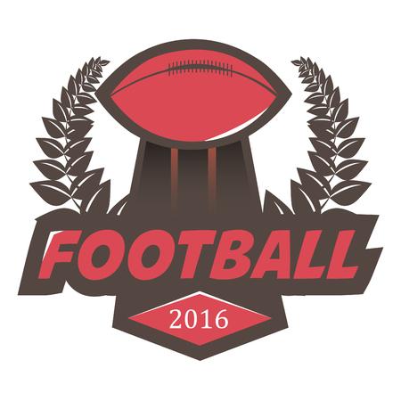 collegiate: Soccer Football Badge  Design Template. Vector Illustration. Isolated on White. Illustration
