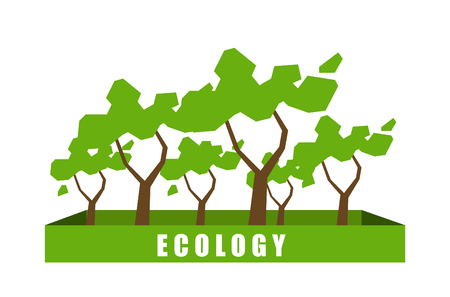 ecology background: Ecology concept with polygon tree background. Vector Illustration. Illustration