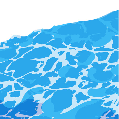 light reflex: Ocean sea or pool water surface caustic texture with sun reflections background. Vector Illustration.