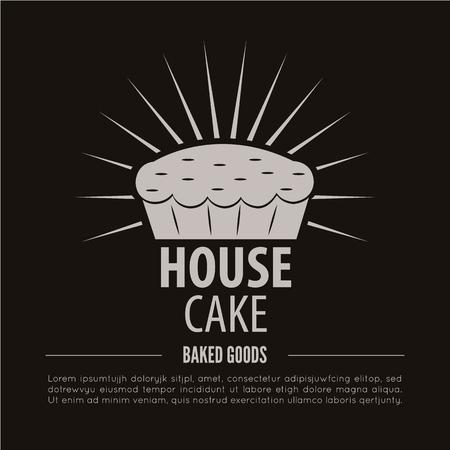 Bakery . Bakery or bred shop vintage design element. Vector Illustration. Illustration