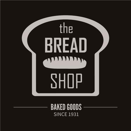 bred: Bakery logotype. Bakery or bred shop vintage design element. Vector Illustration.