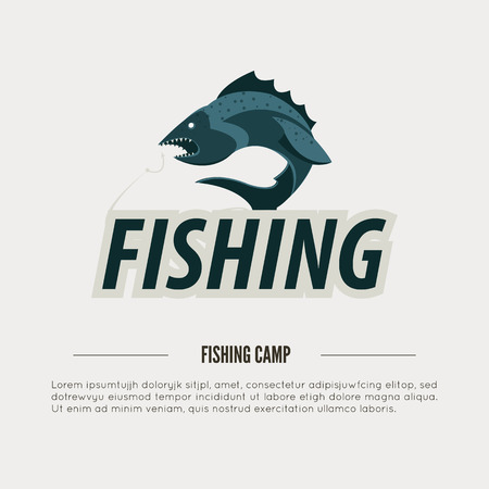 Vintage Fishing Label Badge Poster Template Vector Illustration Royalty Free Cliparts Vectors And Stock Image 61523334