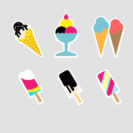chock: Ice cream set. Vector Illustration. Illustration