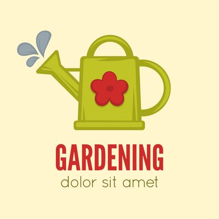 hedge: Garden center emblem or label, badge, gardening   designed element. Vector Illustration.