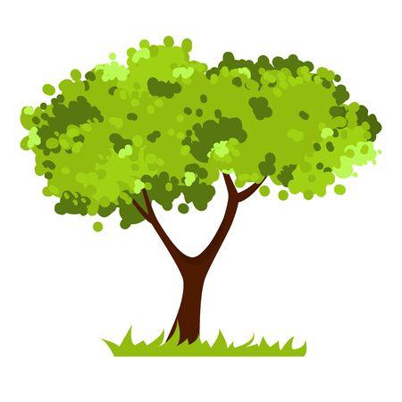 Stilisierter Baum isoliert auf weißem Hintergrund.