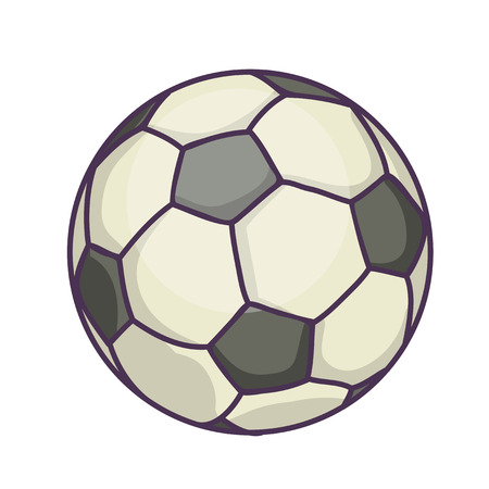 Voetbal of voetbal. VectordieIllustratie op Witte Achtergrond wordt geïsoleerd