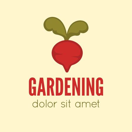 Garden center emblem or label, badge, gardening designed element. Vector Illustration. Illustration