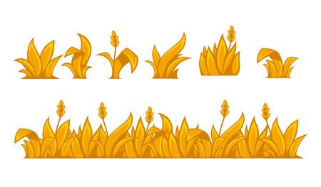 horizontal border: Ears of wheat horizontal border pattern. Vector illustration