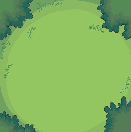 top veiw: Gree background bushes or trees and grass. Top veiw. Vector Illustration. Illustration