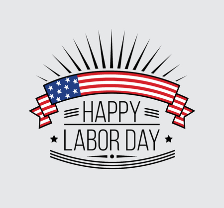 national holiday: Labor Day National holiday of the United States badge or label design. Vector Illustration.