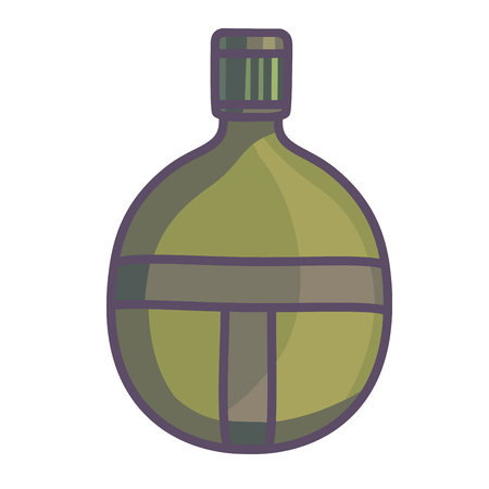 hip flask: Hip flask icon. Men drinking accessory. Isolated vector illustration Illustration