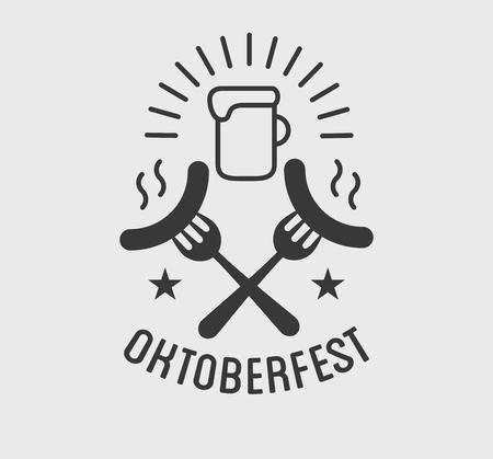 cereal bar: Oktoberfest beer festival lettering typography celebration retro typographic design template label, badge Illustration