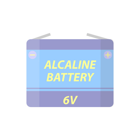 plus size: Battery flat colorful clipart isolated. Vector battery and accumulator. Isolated on white background. Illustration
