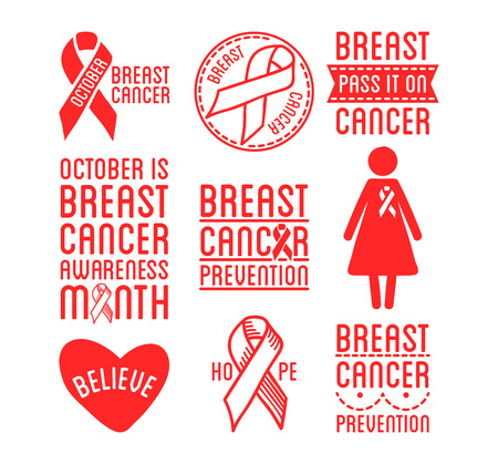 International Day Of Breast Cancer Awareness Set Of Vector Ribbons