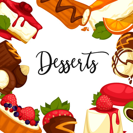 Delicious Sweet Dessert Menu Template For Cafe Or Restaurant – Dessert Menu Template