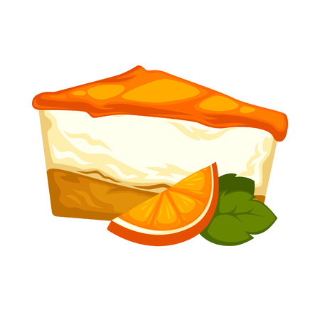Delicious sweet dessert cakes. Vector cartoon Illustration isolated.